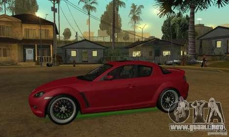 Las luces de neón verdes para GTA San Andreas sucesivamente de pantalla