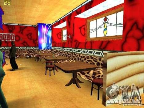 New Bar Ganton v.1.0 para GTA San Andreas sucesivamente de pantalla