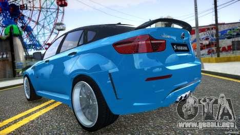 BMW X 6 Hamann para GTA 4 vista lateral