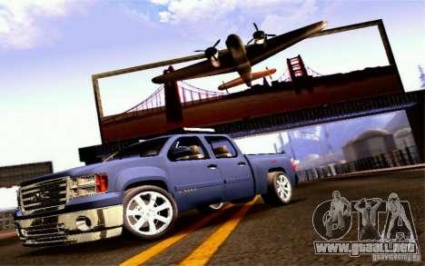 GMC Sierra 2011 para GTA San Andreas vista posterior izquierda