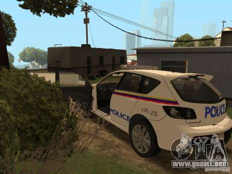 Mazda 3 Police para visión interna GTA San Andreas