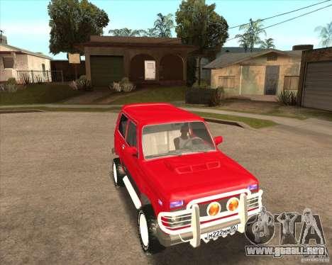 VAZ 21213 4 x 4 para las ruedas de GTA San Andreas