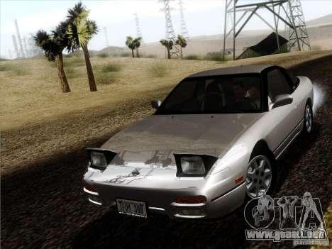 Nissan 240SX S13 - Stock para GTA San Andreas vista posterior izquierda