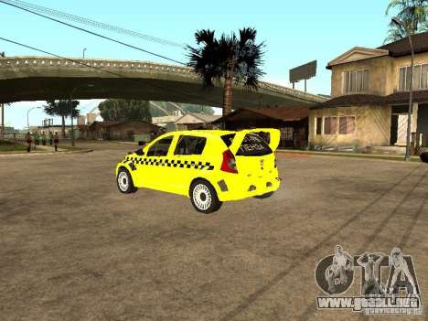 Dacia Sandero Speed Taxi para GTA San Andreas left
