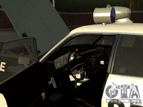 Dodge Polara Police 1971 para GTA San Andreas vista hacia atrás