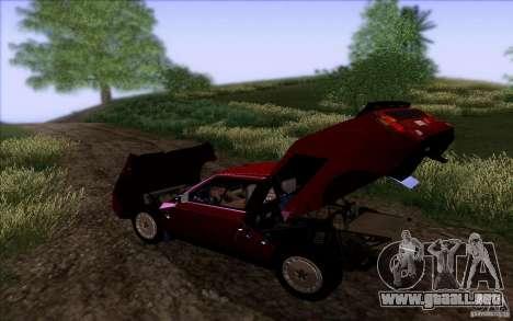 Lancia Delta S4 Stradale (SE038) para GTA San Andreas vista hacia atrás