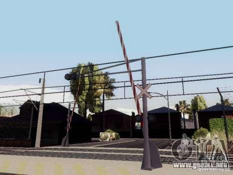 FERROCARRIL cruzando RUS V 2.0 para GTA San Andreas tercera pantalla