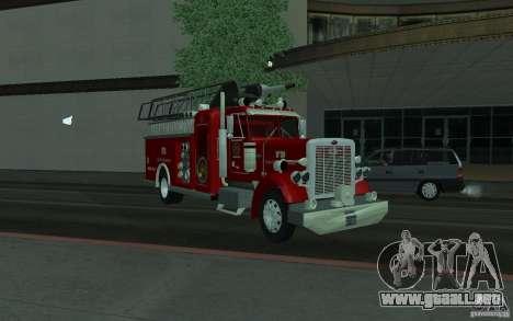 Peterbilt 379 Fire Truck ver.1.0 para la visión correcta GTA San Andreas