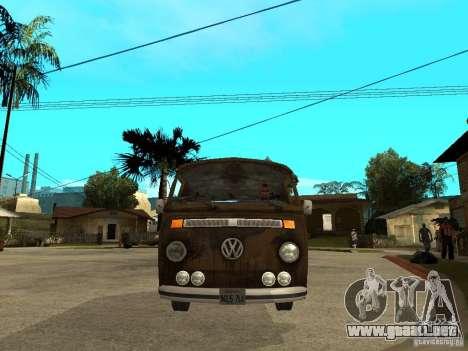 VW Transporter T2 1967 para la visión correcta GTA San Andreas