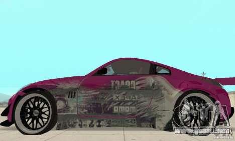Nissan 350Z Tuning para GTA San Andreas vista posterior izquierda