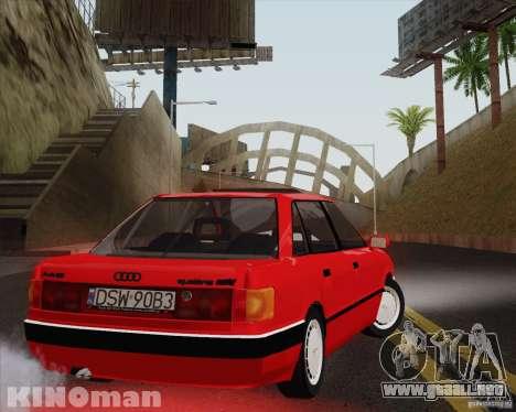 Audi 90 Quattro para GTA San Andreas left