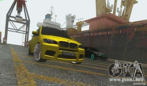 BMW X5M Gold Smotra v2.0 para GTA San Andreas left