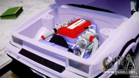Toyota AE86 TRUENO Initial D para GTA 4 vista interior