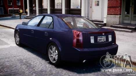 Cadillac CTS para GTA 4 Vista posterior izquierda