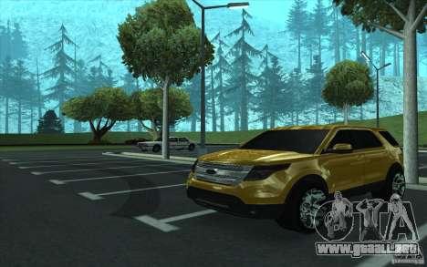 Ford Explorer Limited 2013 para visión interna GTA San Andreas