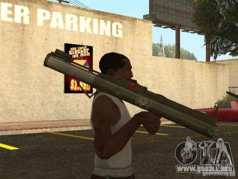 LAW Rocket launcher para GTA San Andreas tercera pantalla