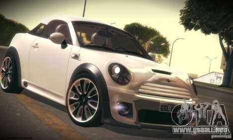 Mini Concept Coupe 2010 para GTA San Andreas left