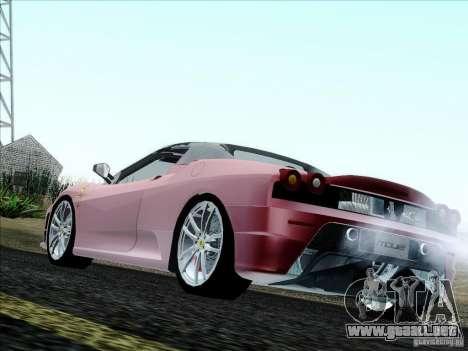 Ferrari F430 Scuderia Spider 16M para GTA San Andreas vista posterior izquierda