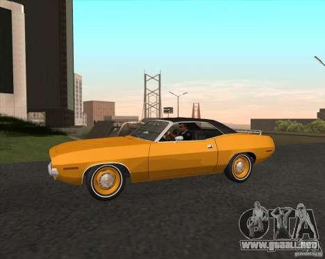 Plymouth Cuda Ragtop 1970 para GTA San Andreas