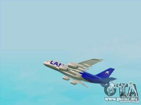 Airbus A380-800 Lan Airlines para la visión correcta GTA San Andreas