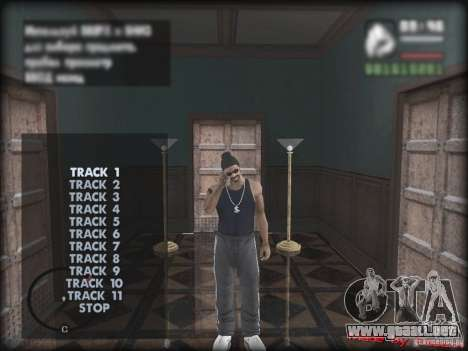 MUZON MP3 para GTA San Andreas