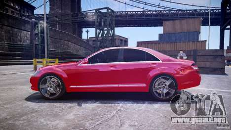 Mercedes Benz w221 s500 v1.0 cls amg wheels para GTA 4 left