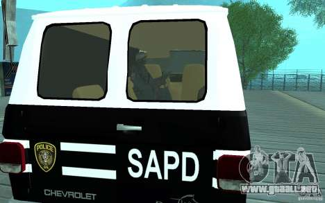 Chevrolet G20 Enforcer para la visión correcta GTA San Andreas