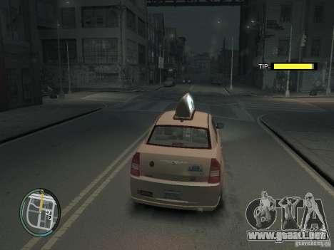 La misión de taxista para GTA 4 para GTA 4 quinta pantalla