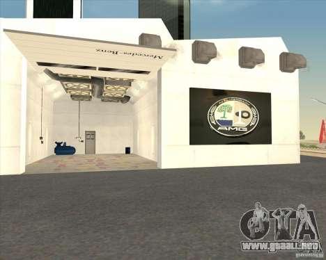 AMG showroom para GTA San Andreas quinta pantalla