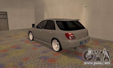 Subaru Impreza WRX Wagon para la visión correcta GTA San Andreas