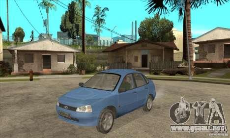 Kalina 1118 VAZ para visión interna GTA San Andreas