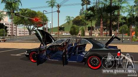 BMW E38 750LI para vista inferior GTA San Andreas