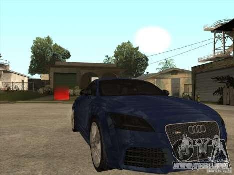 Audi TT RS 2010 para GTA San Andreas vista hacia atrás