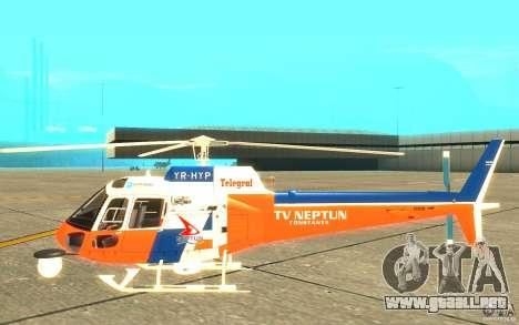 AS-350 TV para GTA San Andreas vista posterior izquierda