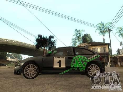 Rover MG ZR EX258 para GTA San Andreas left