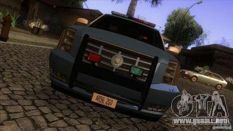 Cadillac Escalade 2007 Cop Car para visión interna GTA San Andreas