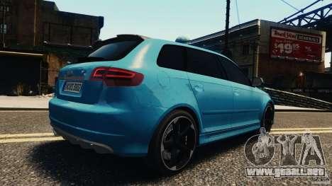 Audi RS3 Sportback V1.0 para GTA 4 visión correcta