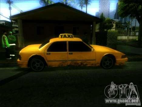 Sunrise Taxi para GTA San Andreas left