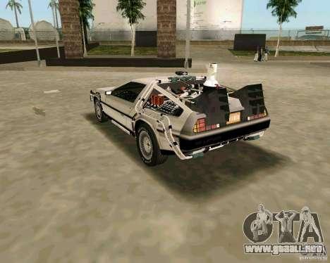 BTTF DeLorean DMC 12 para GTA Vice City vista posterior