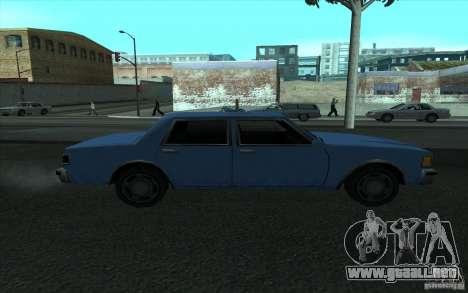 Civilian Police Car LV para GTA San Andreas left