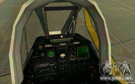 A-10 Warthog para visión interna GTA San Andreas
