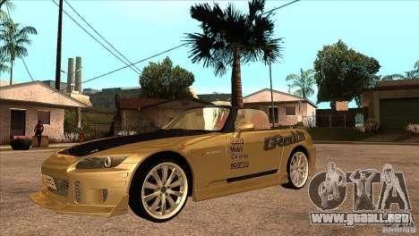 Honda S2000 Tuned v1 para visión interna GTA San Andreas