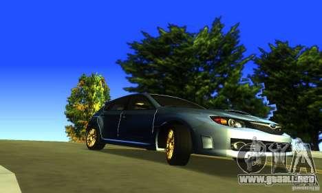 Subaru Impresa WRX STI 2008 para la visión correcta GTA San Andreas