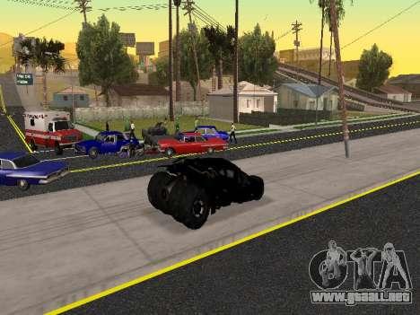 Tumbler Batmobile 2.0 para la vista superior GTA San Andreas