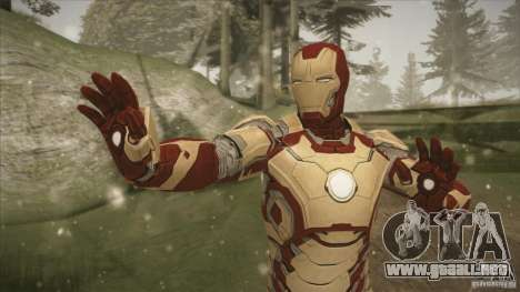 Iron Man Mark 42 para GTA San Andreas segunda pantalla