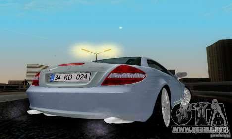 Mercedes-Benz SLK 55 AMG para GTA San Andreas vista posterior izquierda