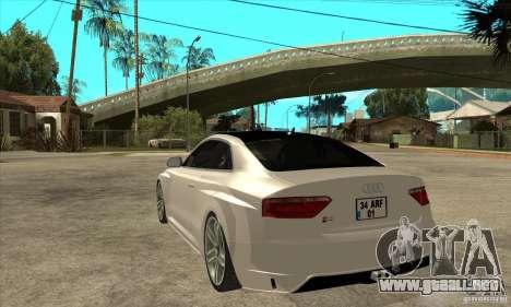 Audi S5 Quattro Tuning para GTA San Andreas vista posterior izquierda
