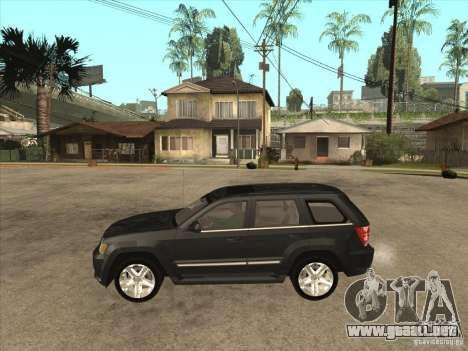 Jeep Grand Cherokee SRT8 para GTA San Andreas left