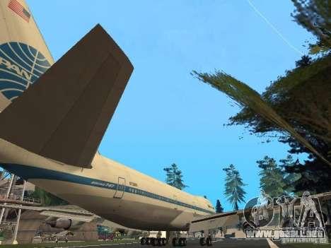 Boeing 747-100 Pan American Airways para la visión correcta GTA San Andreas