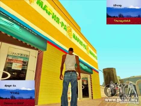 Tiendas rusas detrás de la casa de CJ para GTA San Andreas tercera pantalla
